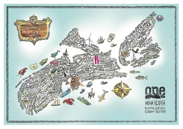 creative Map of Nova Scotia